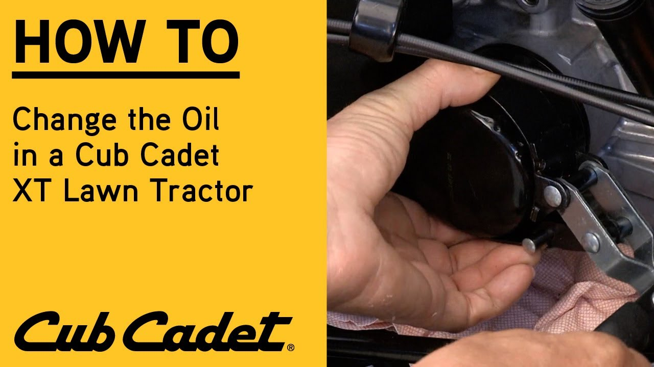 How to change the oil in an XT Lawn Tractor | XT Enduro Series | Cub Cadet