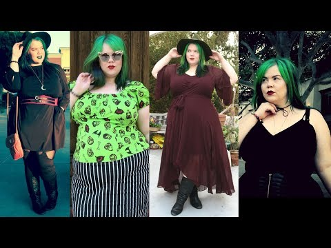Plus Size Fall Fashion Maxi Dress  & Goth Style Lookbook + Try On Haul