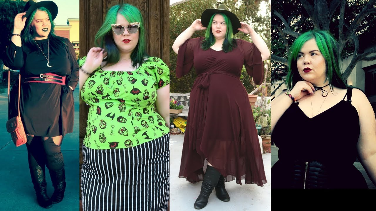 [VIDEO] - Plus Size Fall Fashion Maxi Dress  & Goth Style Lookbook + Try On Haul 3