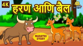 हरण आणि बैल - The Deer and The Ox | Marathi Ghosti | Marathi Story for Kids | Marathi Fairy Tales