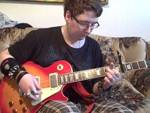 me playing the intro to 'anymore' by travis tritt and playing some of the chords in the song
