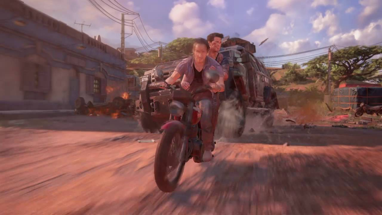 Uncharted 4 A Thief S End Crazy End To Car Chase Spot The Glitch