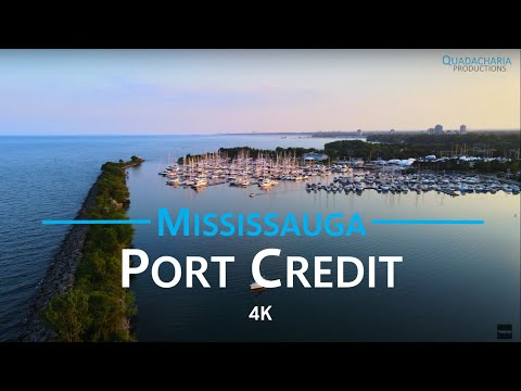 Port Credit - Mississauga, Canada 🇨🇦   4K drone aerial video