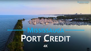Port Credit - Mississauga, Ontario 🇨🇦 | 4K drone footage
