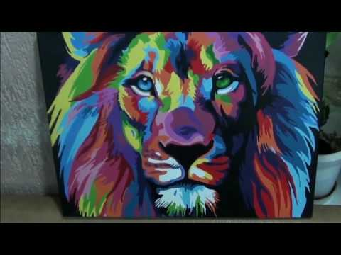 DIY Paint by Numbers- Lion #ilovepaintingPH