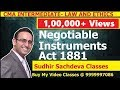 CMA Inter Law and Ethics-Negotiable Instruments Act 1881