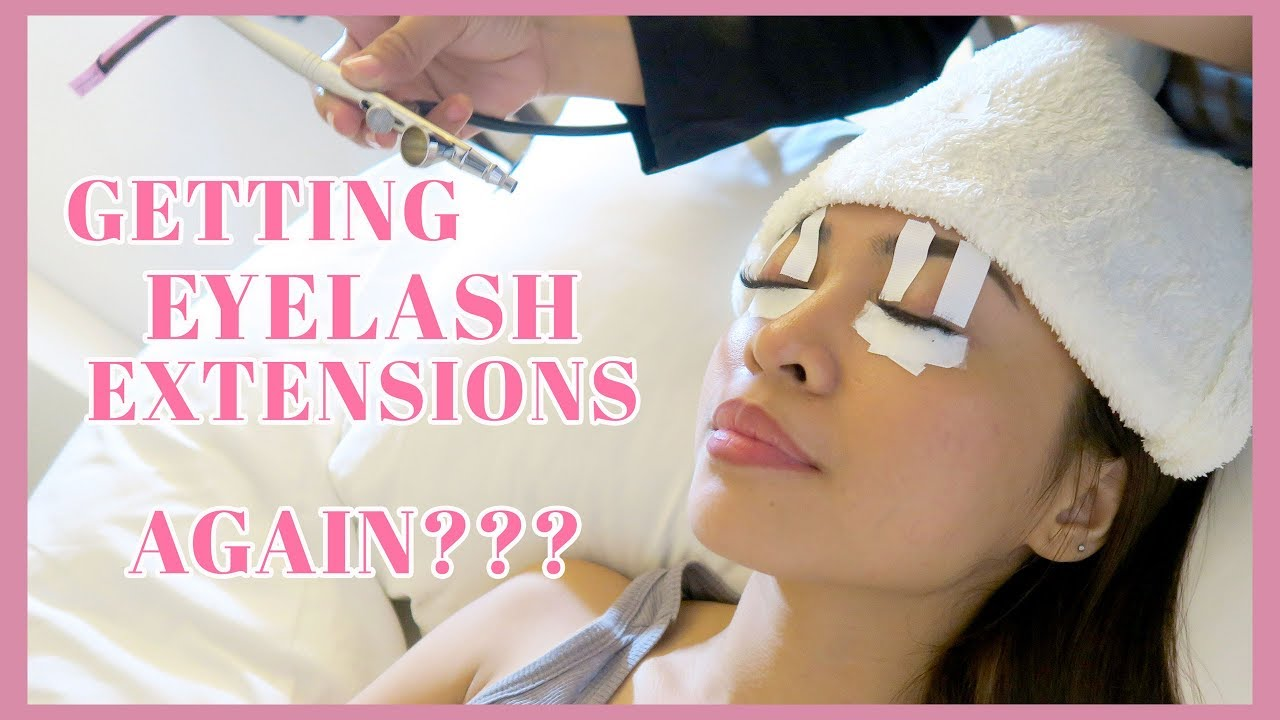 Getting Lash Extensions Again With Friends At New Lounge Gen Zel
