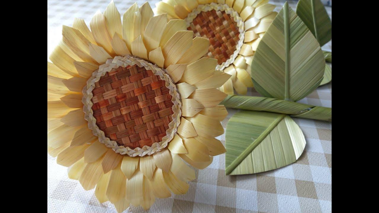Slonecznik Ze Slomy Sunflower From Straw Youtube