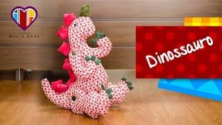 Boneco em tecidos Dinossauro – Maria Adna Ateliê