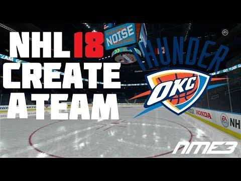 NHL 18 Create A Team: Oklahoma City Thunder