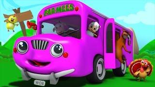 the wheels on the bus   nursery rhymes farmees   baby songs   3d rhymes   kids rhymes