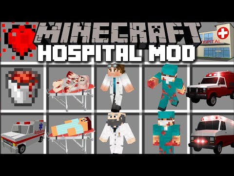 Minecraft HOSPITAL MOD / BECOME A DOCTOR IN MINECRAFT AND SAVE LIVES!! Minecraft