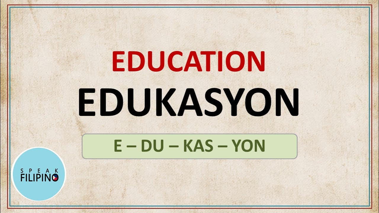 TAGALOG and ENGLISH Words that SOUND Alike! #3 (English-Tagalog Translation)