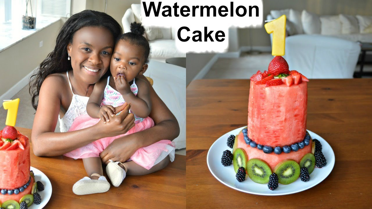 938343c1c How to Make Watermelon Cake | Chelsea's 1st Birthday Cake. Shine with Plants