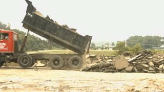 Taff and Frye Hotel Demolition - Asphalt removal 8 July 2014
