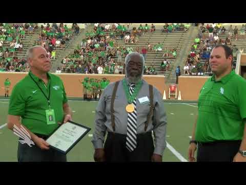 North Texas Athletics :Abner Haynes Receives Presidential Medal of Honor 9/22/17