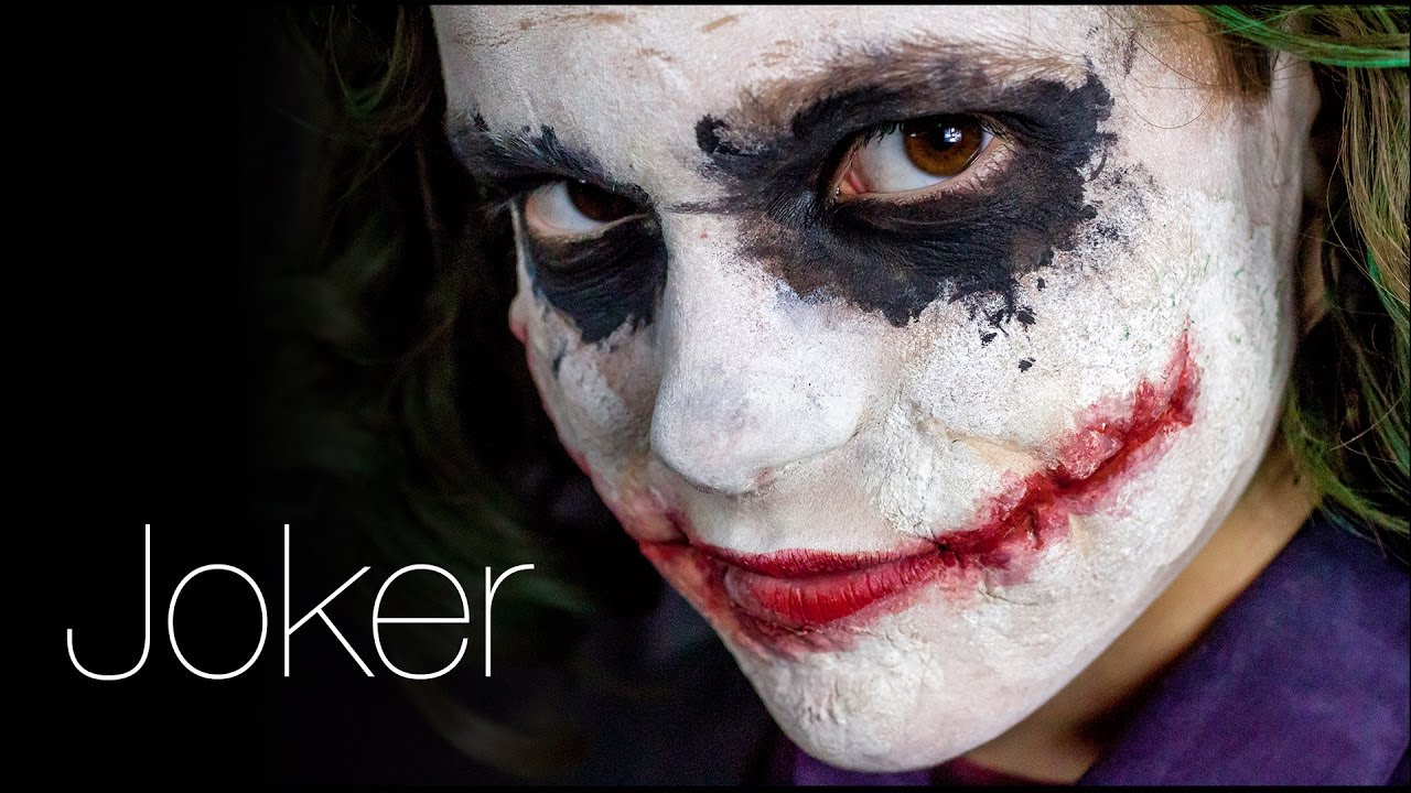 maquillage de joker a la maniere heath ledger youtube. Black Bedroom Furniture Sets. Home Design Ideas