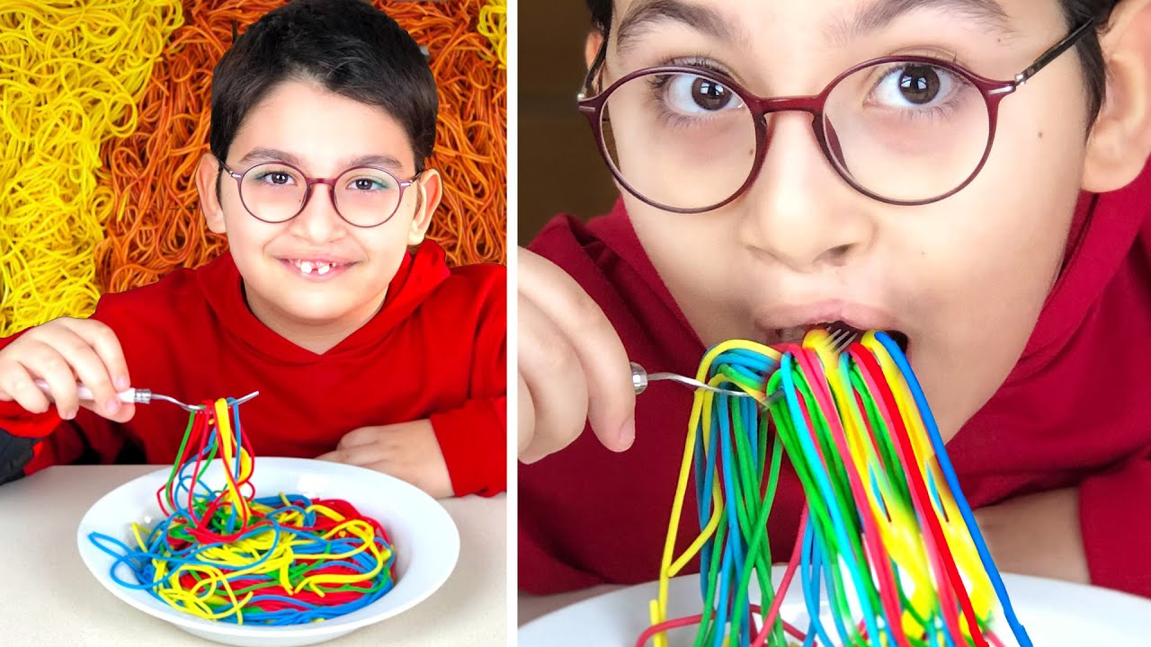 Colorful Spaghetti Toys, Funny and Magical Stories for Kids