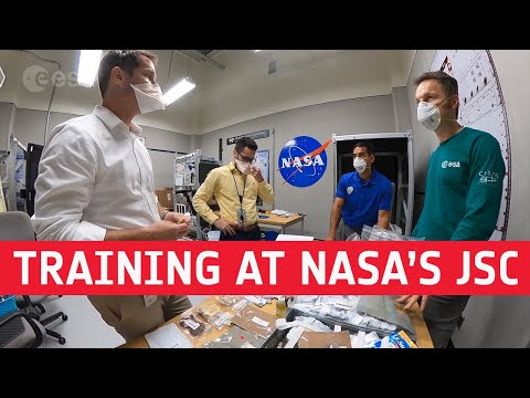 Matthias Maurer: training at NASAs Johnson Space Center