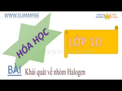 Hóa học lớp 10, Bài 21,  Khái quát về nhóm halogen, thuan mai, ôn thi