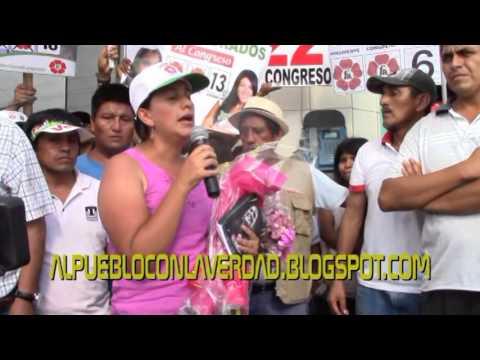 VERONICA MENDOZA Y SU VISITA AL DISTRITO DE CARABAYLLO