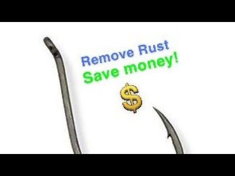 How To Remove Rust Off Of Fishing Hooks!