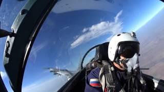 Су 27 выполняют полеты на командно штабных учениях Кавказ 2016