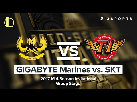 HIGHLIGHTS: GIGABYTE Marines vs. SK Telecom T1 (2017 MSI Group Stage)