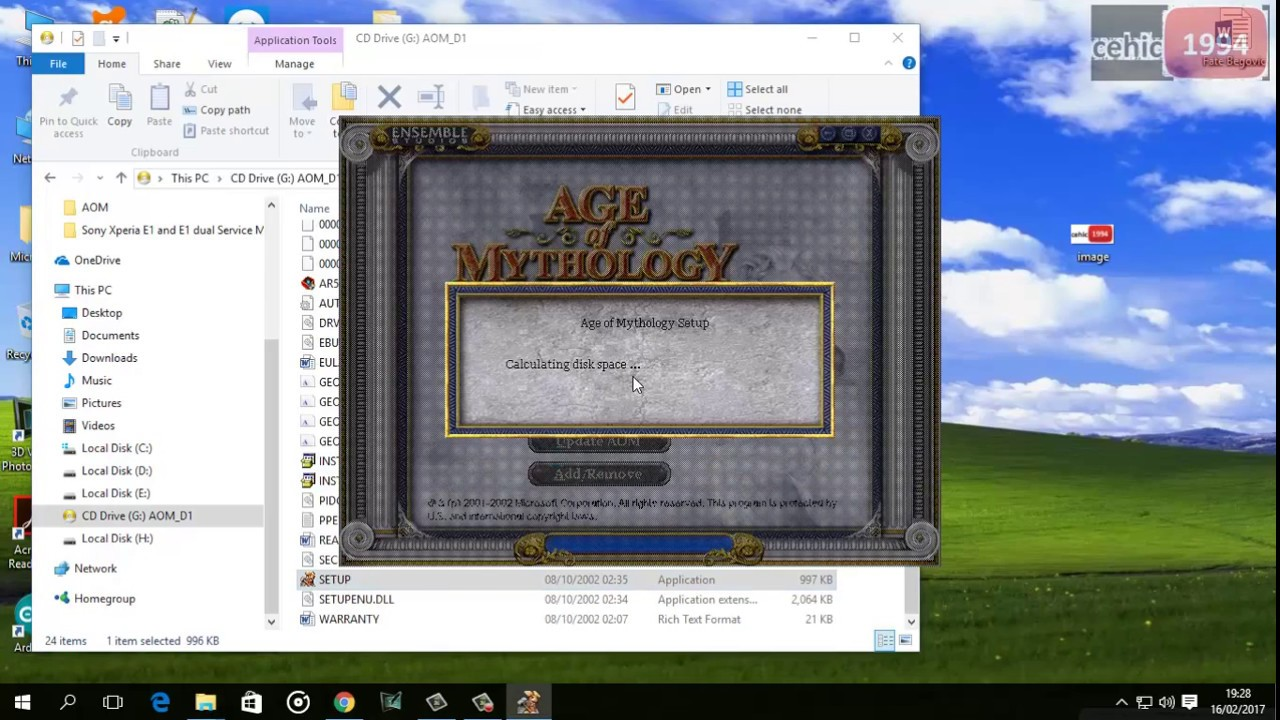 Age of mytology windows 10 instal instructions + download link.