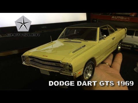 Miniatura Dodge Dart GTS 1969 Highway 61 1/18