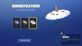 Fortnite Sesason 7 Solo Victory Royale W Thriller & MrAlanC - Snowfall Glider Unlocked - EPIC