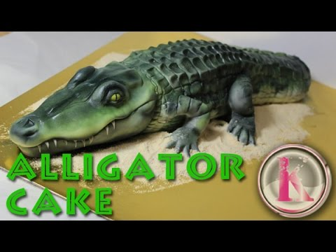 Kricky Cakes And Airbrush Cake Decorating Realistic Alligator Cake
