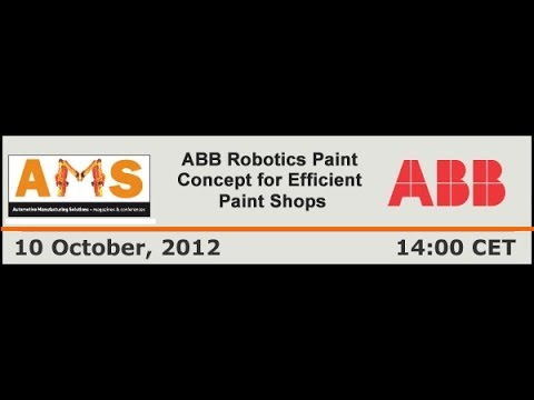 ABB webinar: ABB Robotics Paint Concept for Efficient Paint Shops