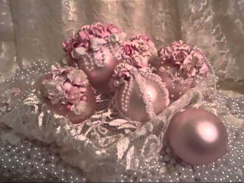 shabby chic christmas ornaments 2013