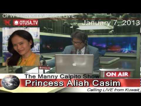 Minamaltrato OFW DH sa kuwait tumakas  - Princess Aliah Casim interview - The Manny Calpito Show
