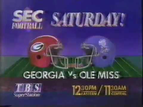 TBS Sports: SEC Football, Georgia v Ole Miss (circa 1989)