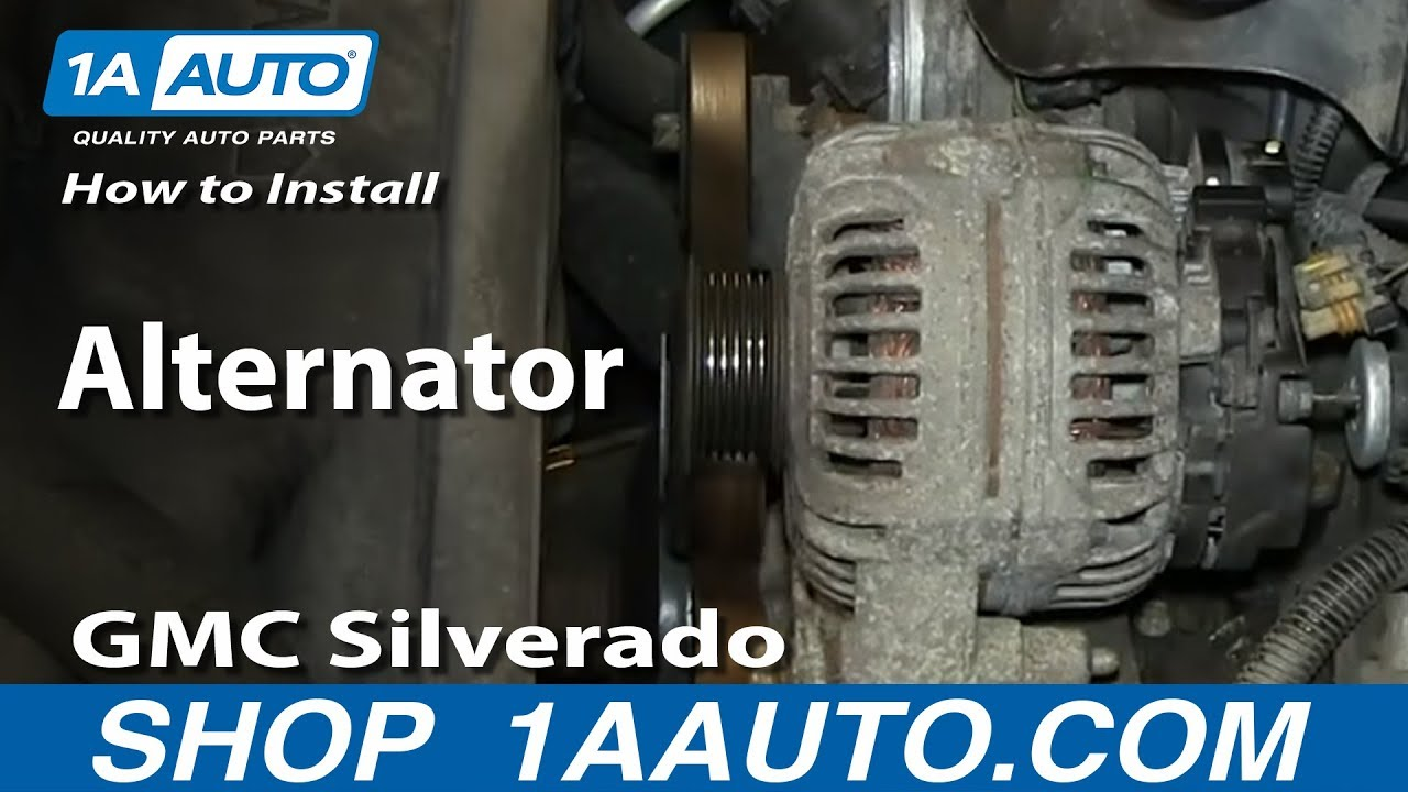 how to install replace alternator 5 3l chevy gmc silverado sierra suburban yukon youtube. Black Bedroom Furniture Sets. Home Design Ideas
