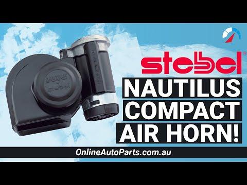 Stebel Nautilus Compact Motor Bike Air Horn Black 139dB 12 volt