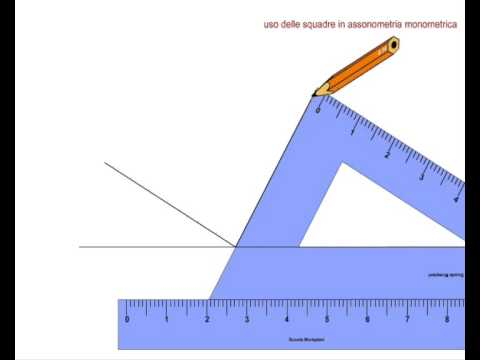Squadre Per Disegno Tecnico.Come Utilizzare La Squadra 30 60 Per Disegnare L Assonometria