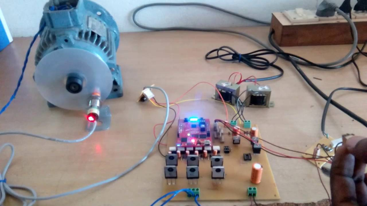 Three phase induction motor speed controller using for Three phase motor speed control