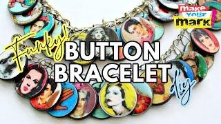 Funky Button Charm Bracelet D Y