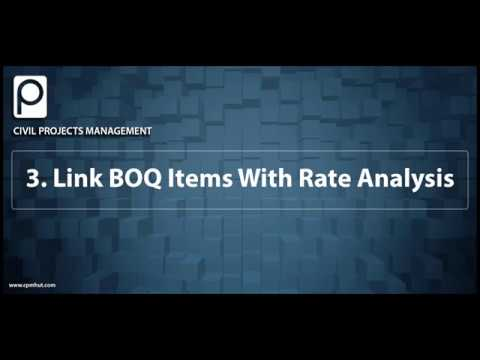 3 Link boq items with rate analysis