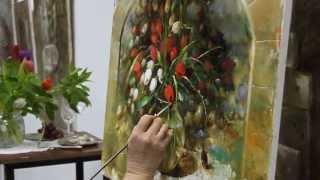 Видео урок живописи Елены Ильичевой
