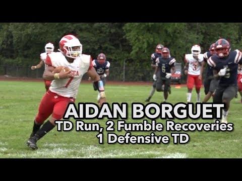 Delsea 21 Willingboro 6   Aidan Borguet TD run and scoop and score