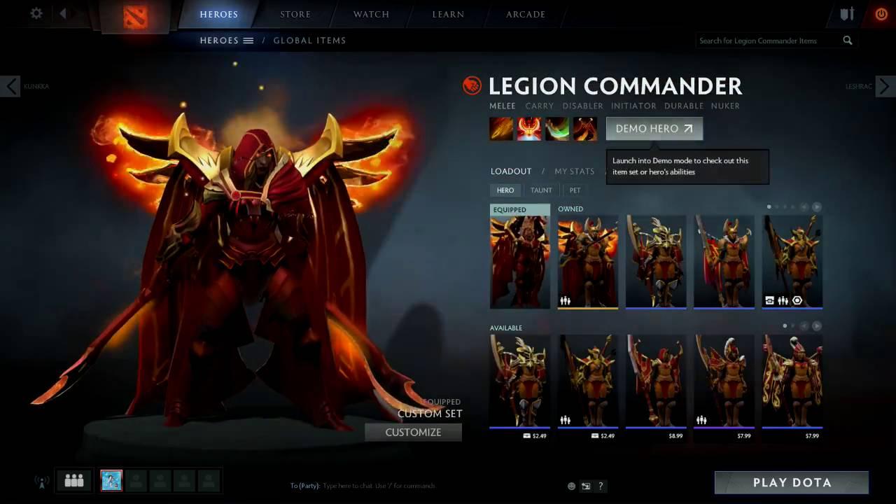 Legion Commander PRESTIGE ITEM - Legacy of the Fallen ...