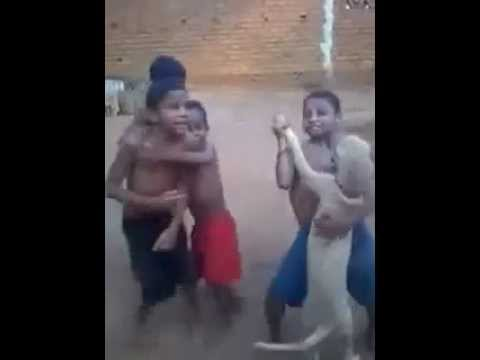 Kids Dancing With Dog