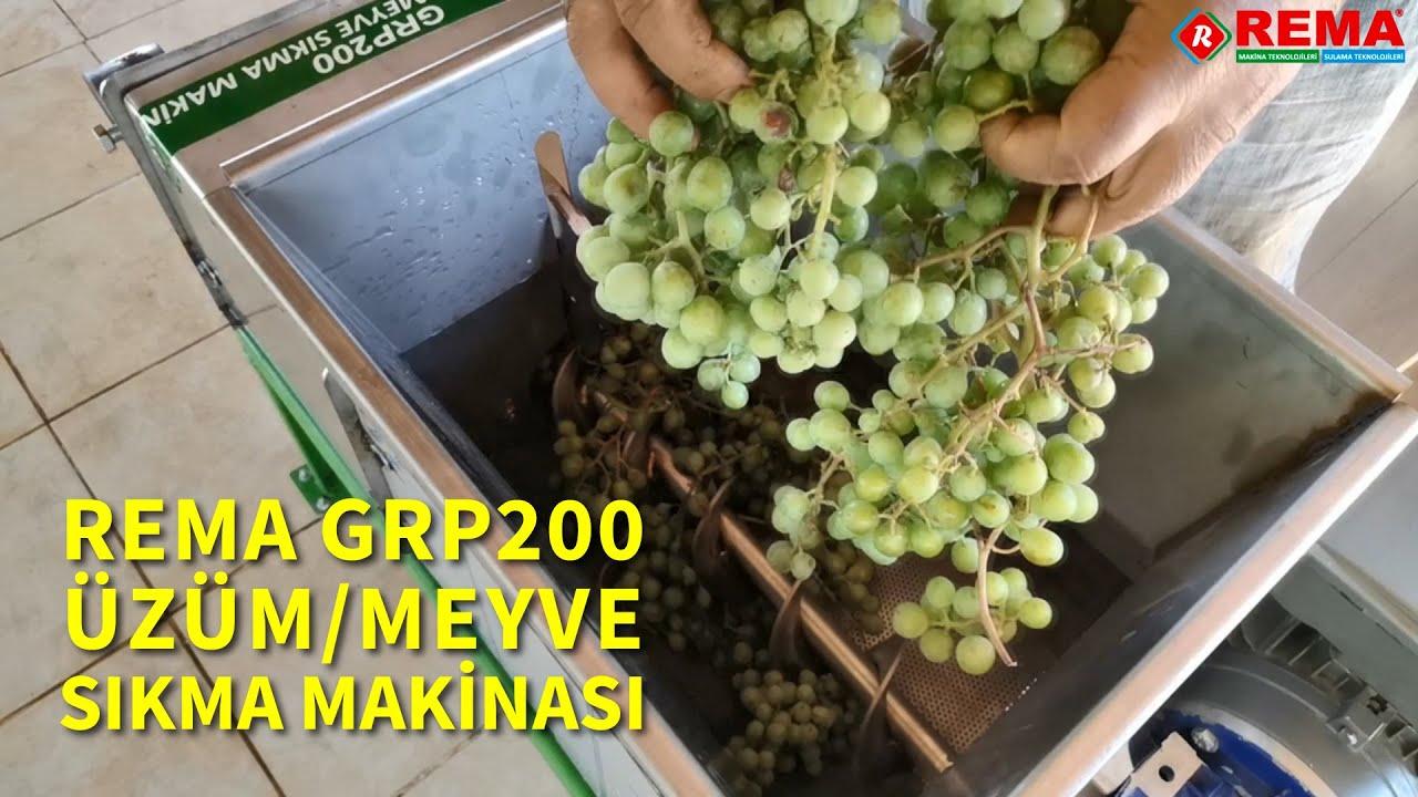 REMA GRP200 MEYVE SIKMA MAKİNASI 220V