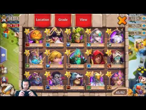 First Time Buying Gems Rolling For Heroes Great Session Castle Clash