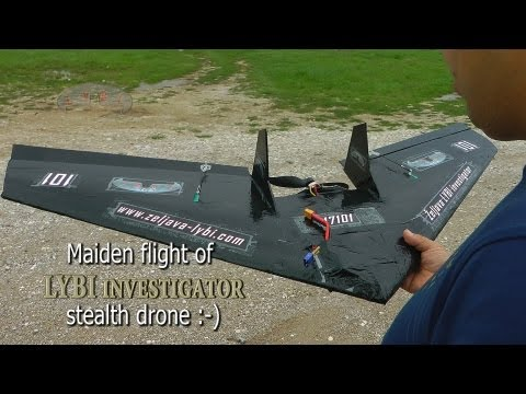 "Maiden flight of ""LYBI investigator"" stealth drone :-) (11.09.2013.)"