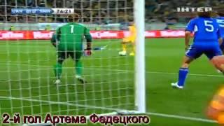 Все голы сборной Украины в отборочной группе к ЧМ 2014